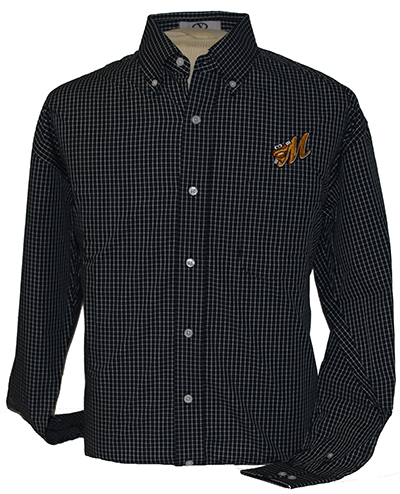 Blended Poplin Box Plaid Shirt - Click Image to Close