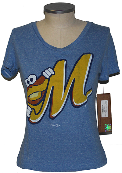 Ladies Retro V-Neck T-shirt