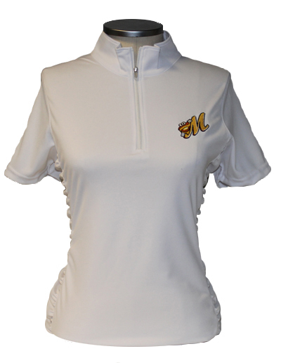 Ladies Vansport Ruched Polo